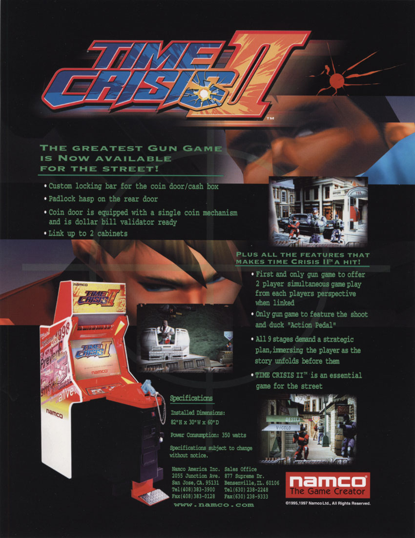 The Arcade Flyer Archive - Video Game Flyers: Time Crisis ...