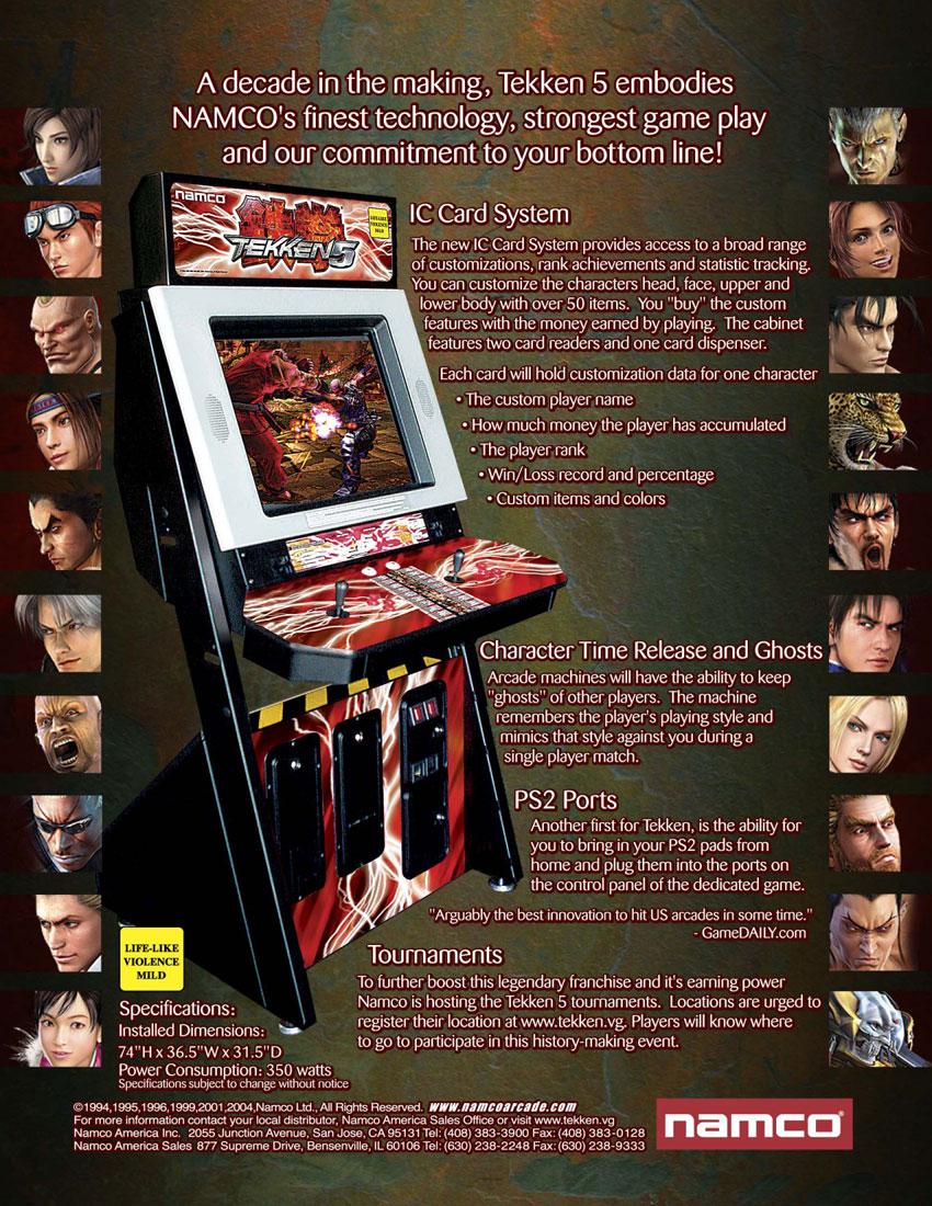 The Arcade Flyer Archive - Video Game Flyers: Tekken 5 ...