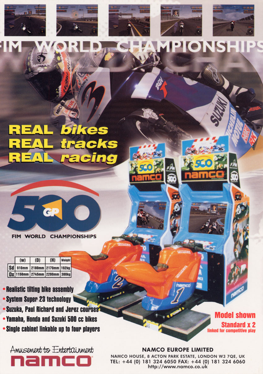 The Arcade Flyer Archive - Video Game Flyers: 500 GP ...