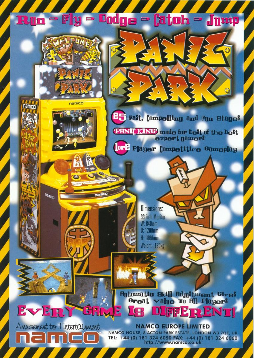 The Arcade Flyer Archive Video Game Flyers Panic Park