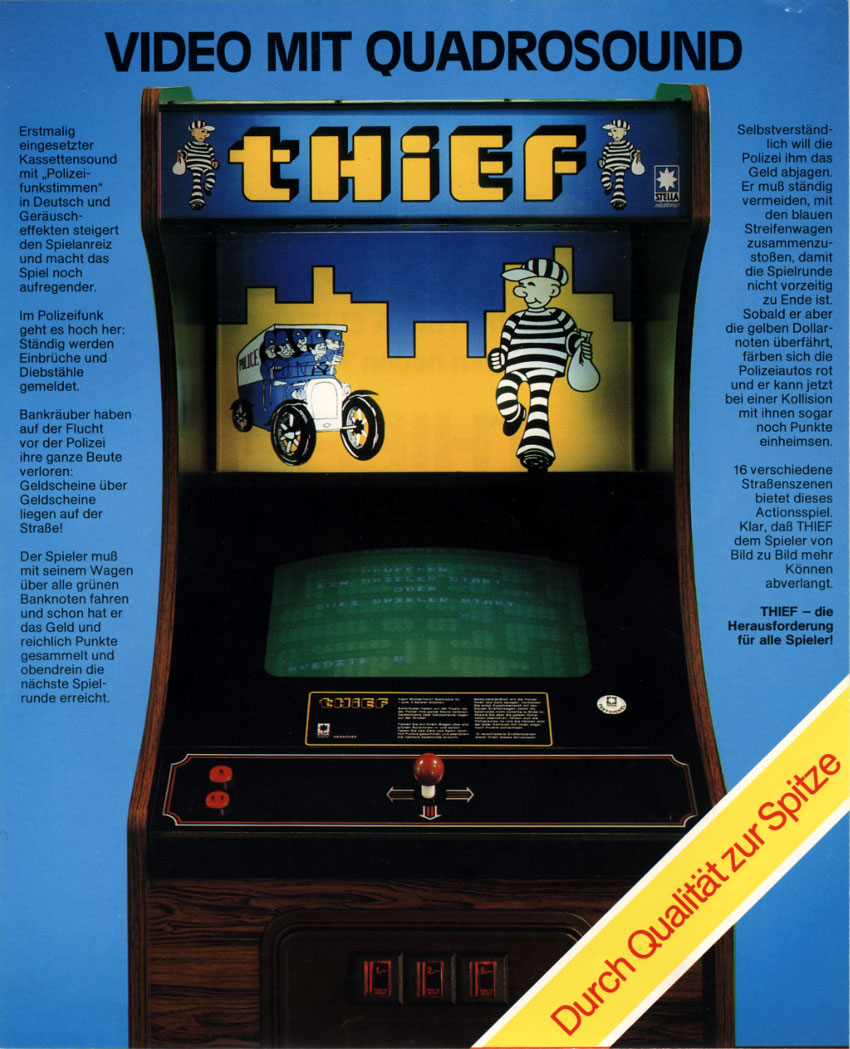 The Arcade Flyer Archive Video Game Flyers Thief