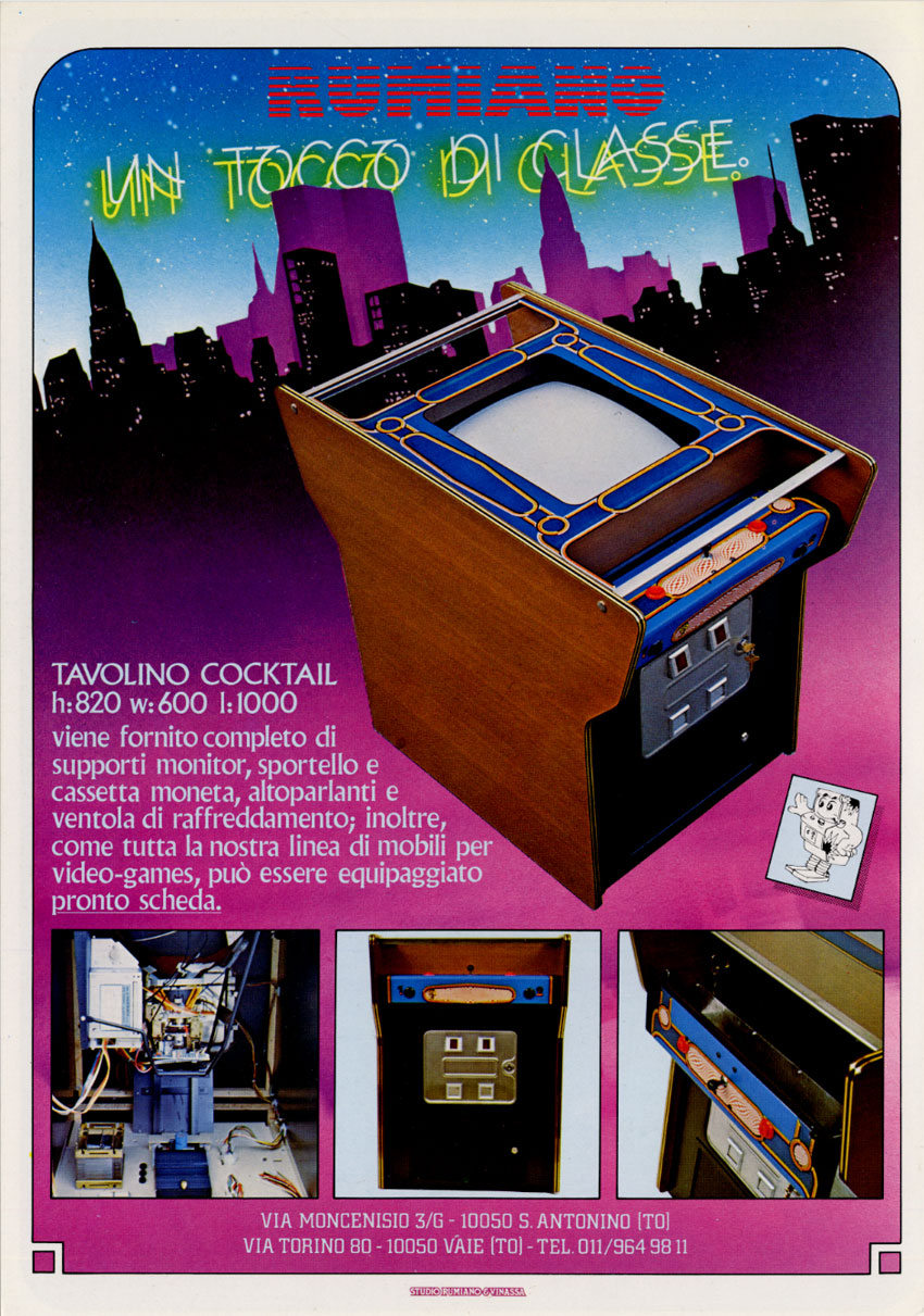Cocktail Arcade Cabinet Kit The Arcade Flyer Archive Video Game Flyers Tavolino Cocktail