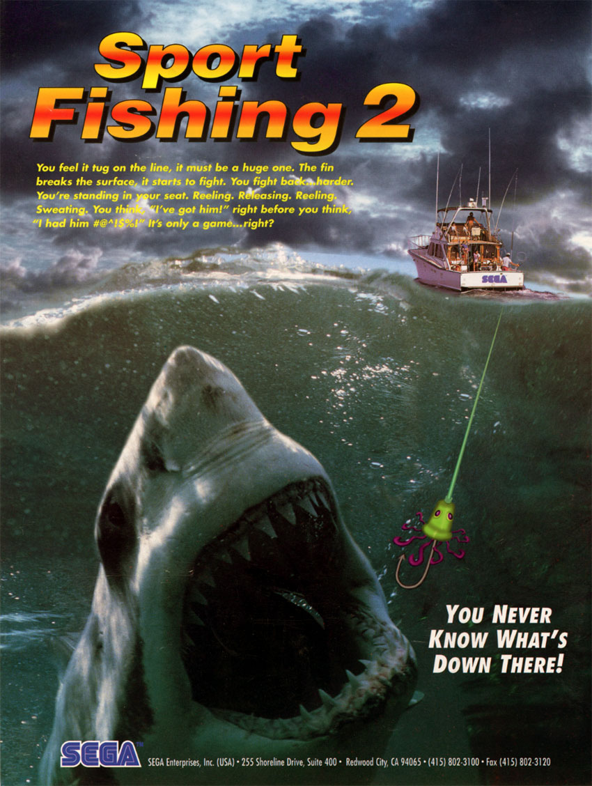 The arcade flyer archive video game flyers sport for Fishing video games