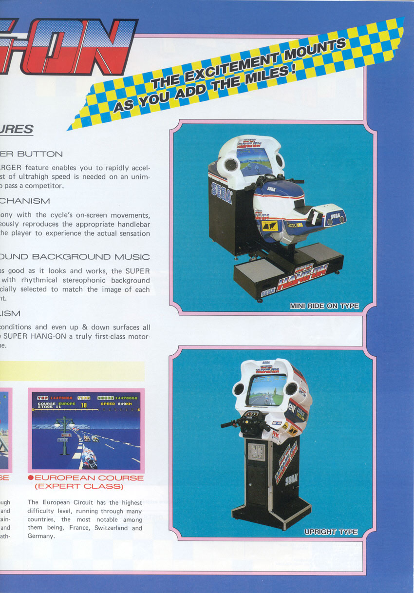 The Arcade Flyer Archive - Video Game Flyers: Super Hang-On
