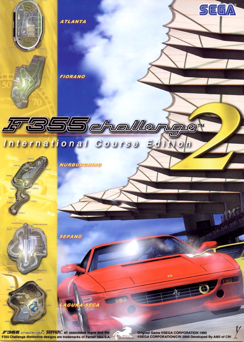 The Arcade Flyer Archive Video Game Flyers F355