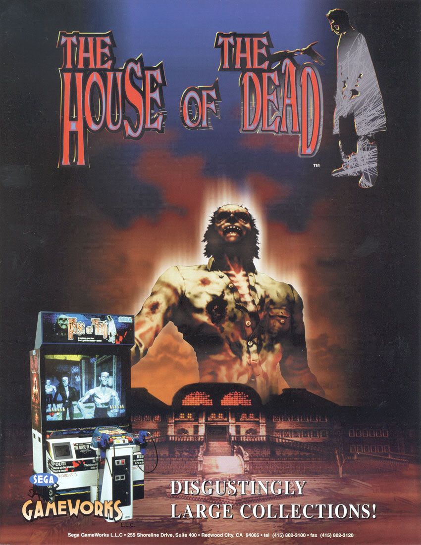 The arcade flyer archive video game flyers house of the for Housse of the dead