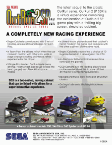 The Arcade Flyer Archive - Video Game Flyers: Out Run 2 - Special