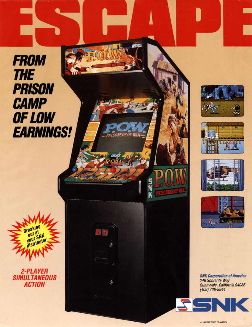 The Arcade Flyer Archive Video Game Flyers P O W