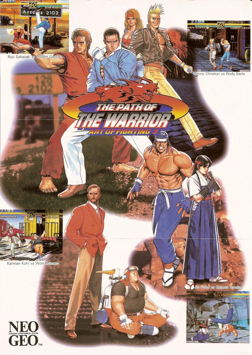 The Arcade Flyer Archive Video Game Flyers Art Of Fighting 3 The Path Of The Warrior Snk Snk Playmore Corp