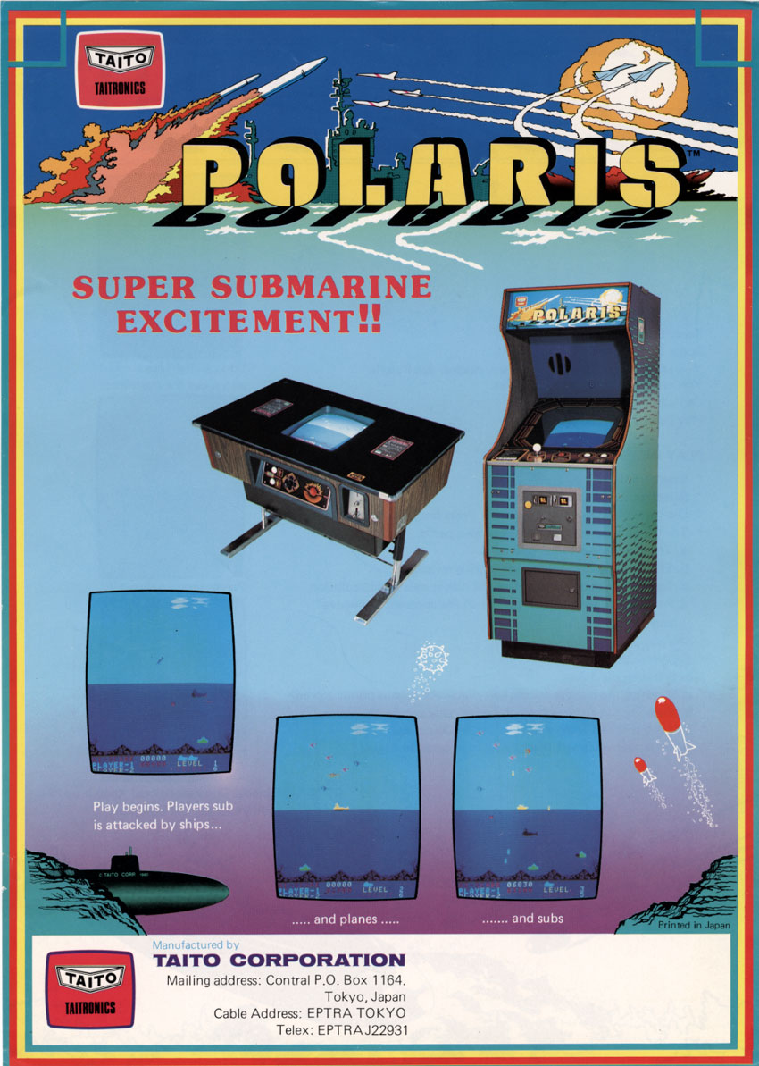 The Arcade Flyer Archive Video Game Flyers Polaris Taito