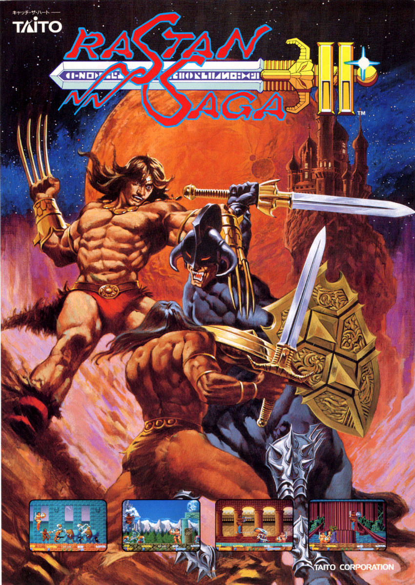 The Arcade Flyer Archive - Video Game Flyers: Rastan Saga II, Taito