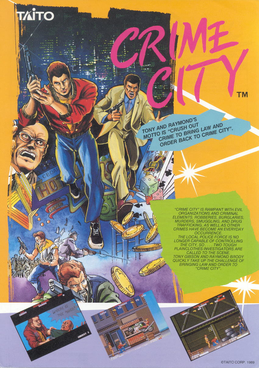 the arcade flyer archive   video game flyers crime city taito