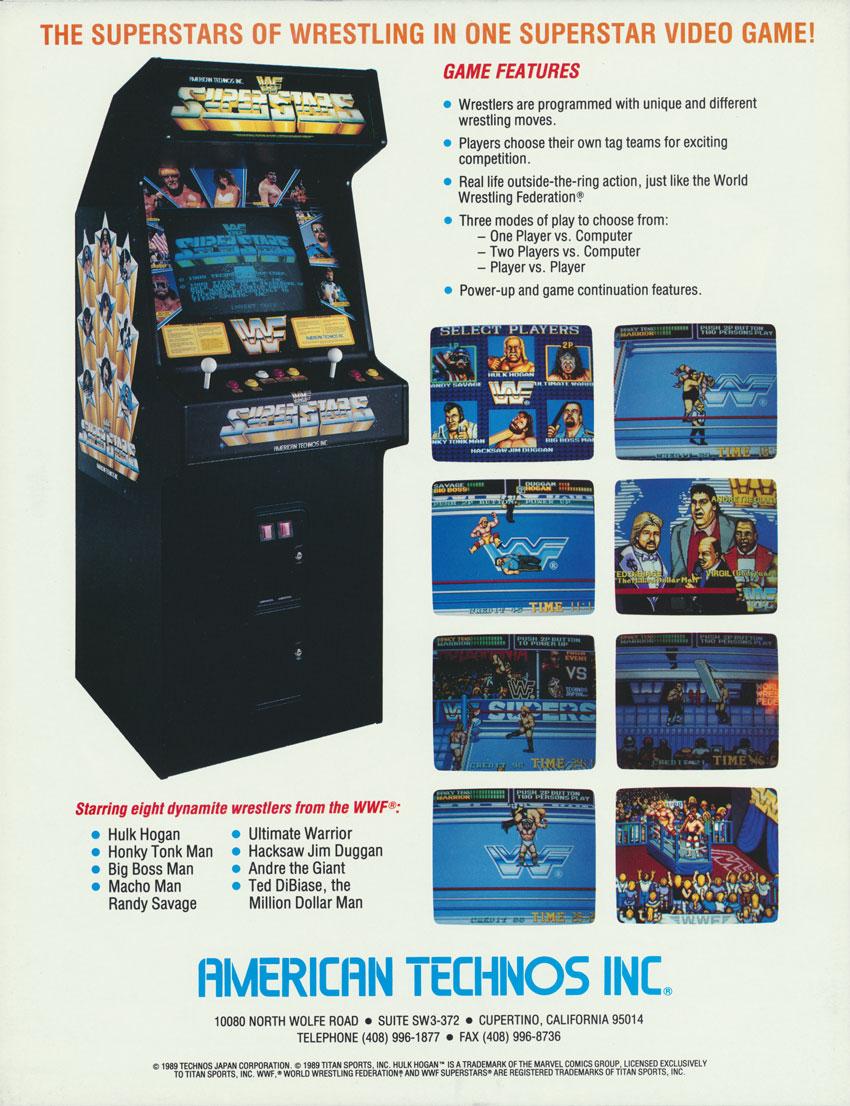 wwf superstars arcade machine
